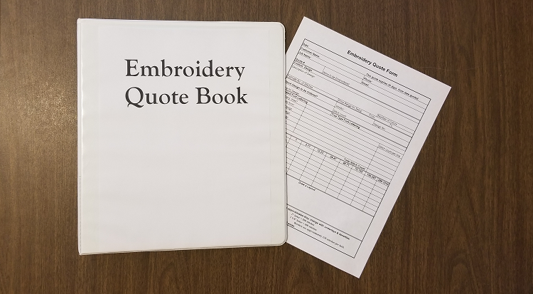 Embroidery Quote Form Embroidery Quote Book Sm Cristall Co